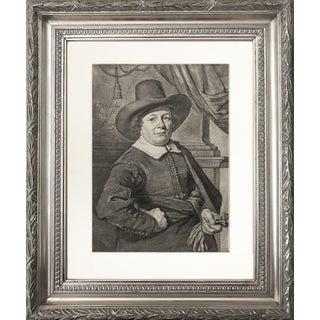 Dutch Old Master Portrait Engraving 1796 Visscher-Van Noorde-Van Goyen
