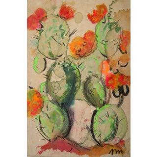 Josephine Mahaffey Mid-Century Cactus Painting For Sale
