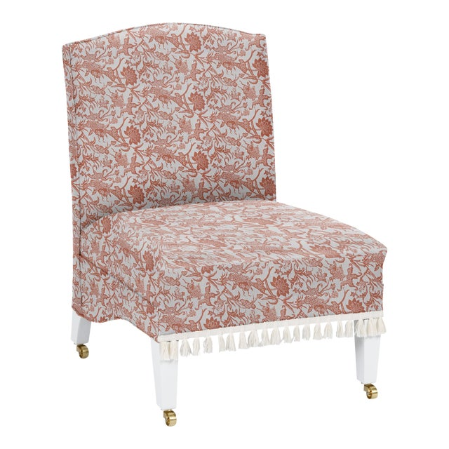 LuRu Home for Casa Cosima Sintra Chair, Prussian Carp, Paprika For Sale