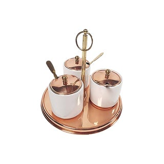 Copper Condiment Serving Set, 10 Pcs For Sale