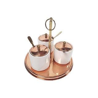 Copper Condiment Serving Set, 10 Pieces For Sale