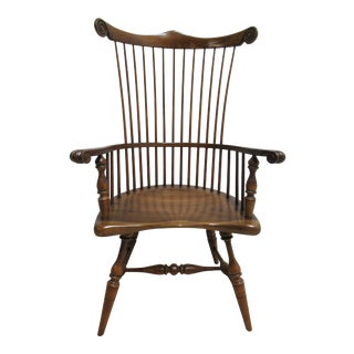 Vintage Frederick Duckloe Over Sized Plank Bottom Windsor Back Chair