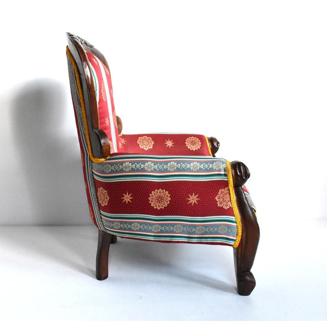 Antique Victorian-Style Upholstered Child's Chair For Sale - Image 4 of 11