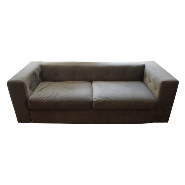 West Elm Champagne 3-Seater Sofa - Image 1 of 3