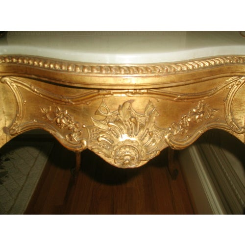 Marble 1850s French Regency Gilt & Alabaster Table For Sale - Image 7 of 8