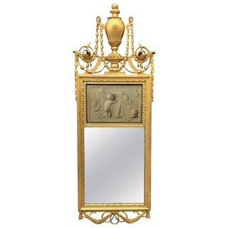 18th Century Neoclassical Mirror With Signed Grisaille by Jacob De Wit For Sale