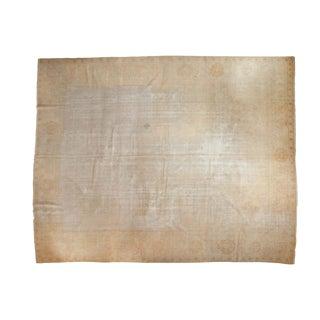 """Antique Distressed Oushak Carpet - 11'8"""" x 14'9"""" For Sale"""