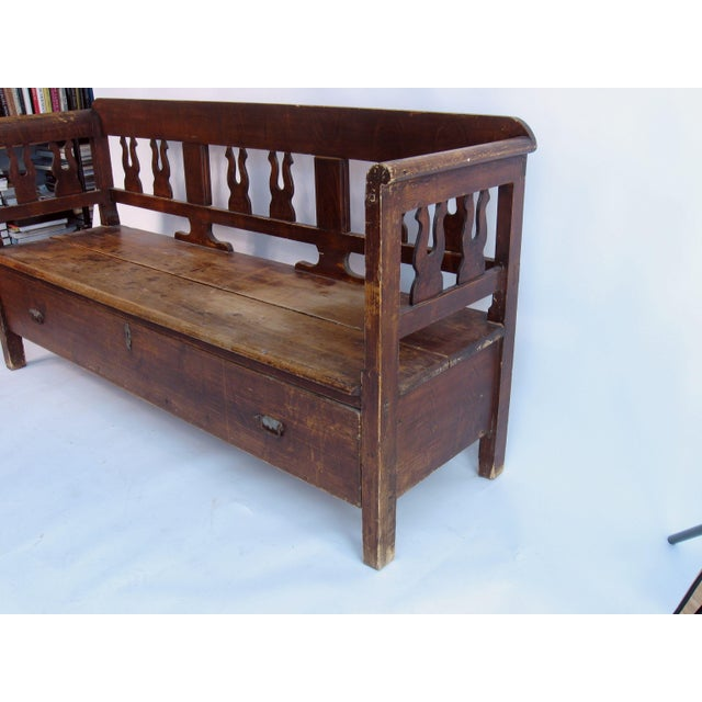 Mid-Century Modern Antique Swedish Bench For Sale - Image 3 of 10