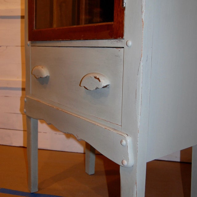 Antique Painted Display Cabinet - Image 10 of 10