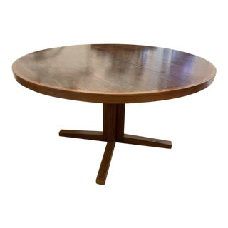 1960s Danish Modern John Mortensen for Heltborg Møbler Model Rosewood Pedestal Dining Table For Sale
