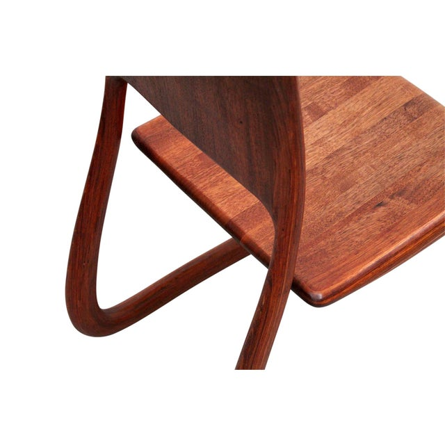 Sculptural Walnut Chair by David Flatt For Sale - Image 11 of 13