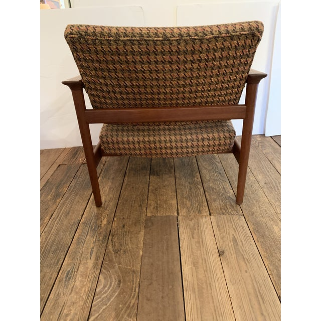 Grete Jalk Danish Mid Century Modern Teak and Upholstered Club Chairs- A Pair For Sale - Image 4 of 9