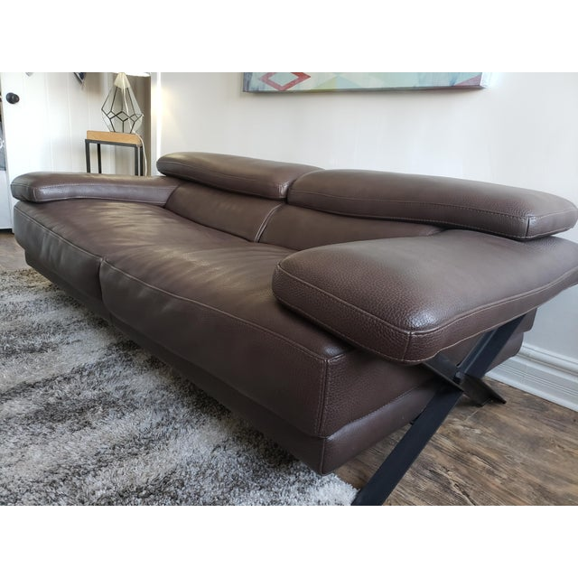Brown Roche Bobois Syntaxe Sofa For Sale - Image 8 of 10