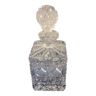 1930s Hollywood Regency Style Cut Heavy Crystal Decanter For Sale