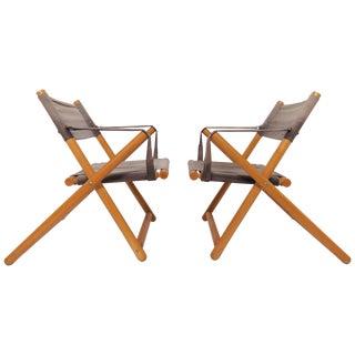 Pair of Brazilian Móveis Gerdau Folding Safari Sling Chairs, Circa 1970s For Sale