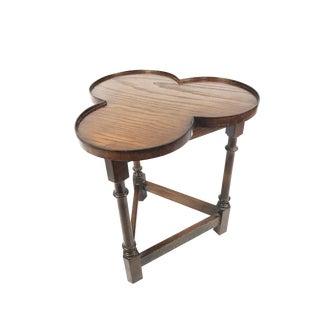 Antique Victorian Cloverleaf Wood End Table / Side Table