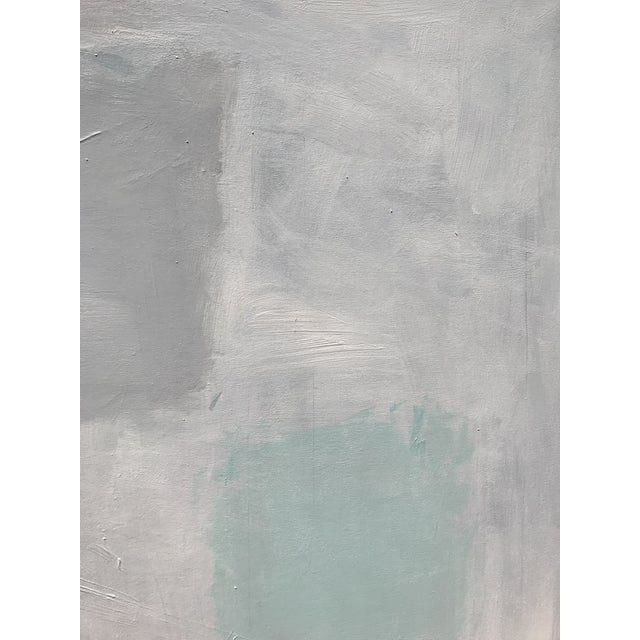 """Sarah Trundle """"Abstract With Aqua"""", Sarah Trundle, Contemporary Abstract Painting For Sale - Image 4 of 7"""