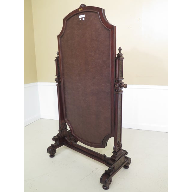 Maitland Smith Mahogany Cheval Dressing Mirror For Sale - Image 10 of 12