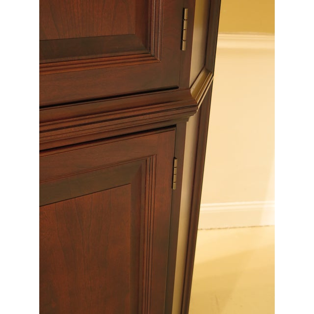Raised Panel Door Solid Cherry Tv Corner Cabinet For Sale In Philadelphia - Image 6 of 13