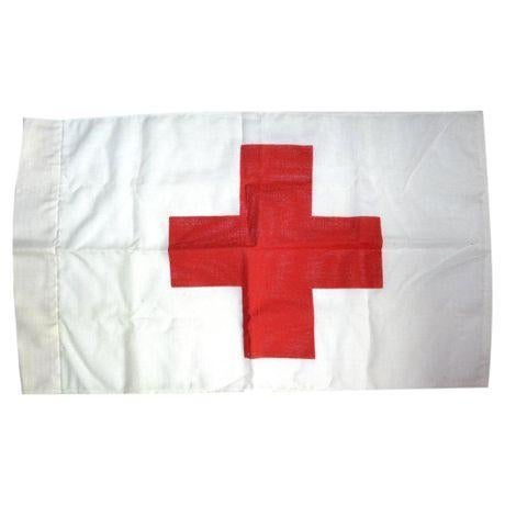 Vintage Red Cross Marker Flag - Image 1 of 5