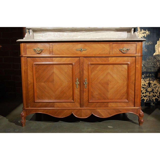 Marble Top Commode with Mirrors For Sale - Image 10 of 10