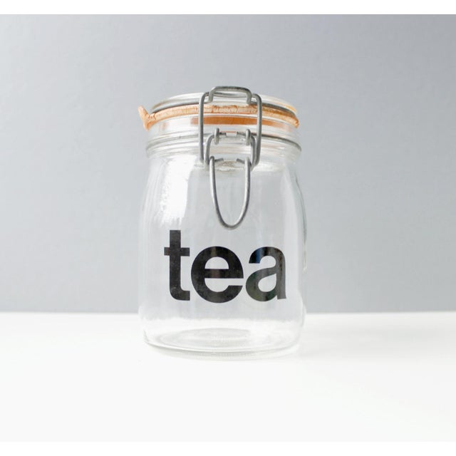 Mid-Century Vintage Glass Tea Jar - Image 2 of 5