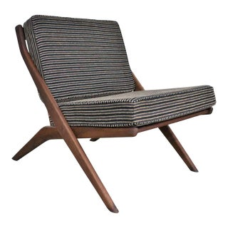 Mid 20th Century Scandinavian Modern Scissor Lounge Chair by Folke Ohlsson for Dux For Sale
