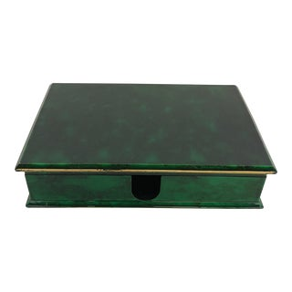Faux Malachite Desk Box For Sale