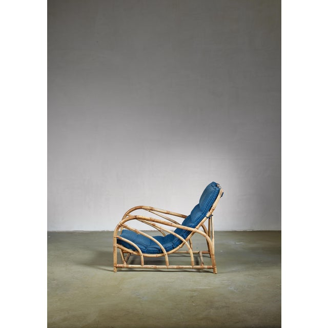 Bamboo and Rattan Lounge Chair, Sweden, 1930s For Sale - Image 4 of 5