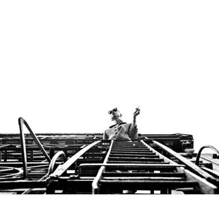 """""""Woman Smoking on New York Fire Escape"""" Photograph Print by Shane LaVancher For Sale"""