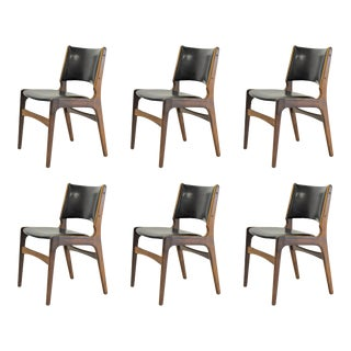Mid Century Modern Erik Buch Refinished Dining Chairs- Set of 6 For Sale