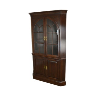 Ethan Allen Georgian Court Cherry Traditional Corner Cabinet For Sale