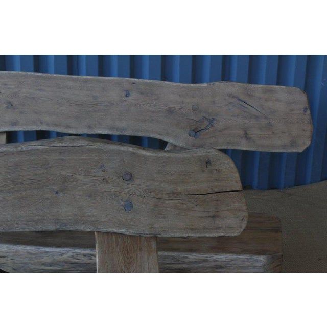 1960s Pair of Oak Benches, France, 1960s. Sold Individually. For Sale - Image 5 of 12