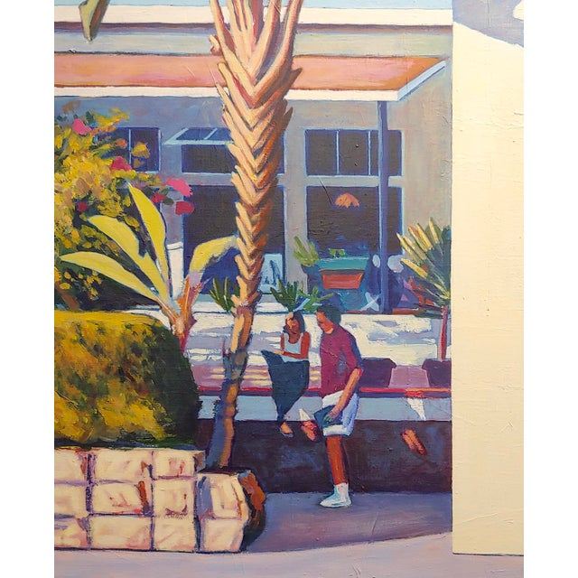 Dennis McNaboe -Santa Barbara Paradise Cafe -Oil painting oil painting on canvas -Signed and dated 1990 frame size 26 x...