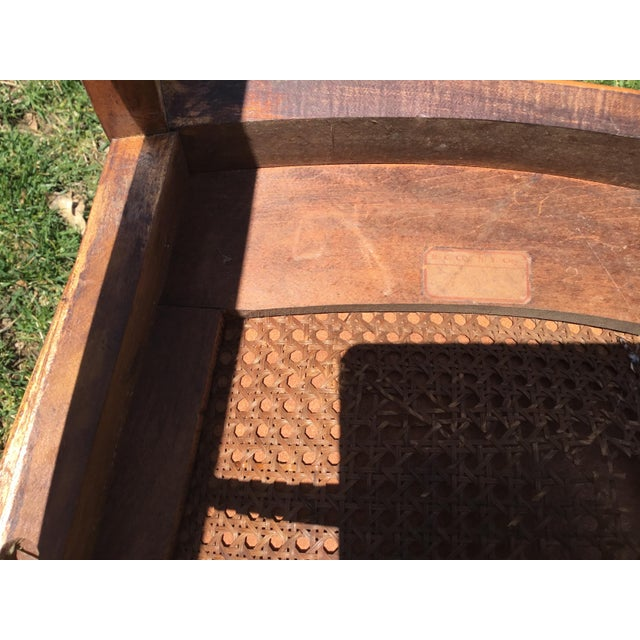Metal Rocking Chair With Leather and Nailhead Trim Seat For Sale - Image 7 of 9