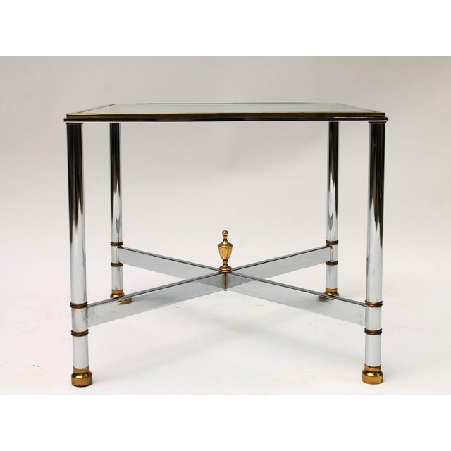 Petite Brass & Steel Side Table - Image 2 of 8