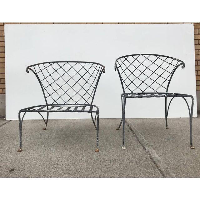Salterini Wrought Iron Outdoor Patio Garden Chairs A Pair Chairish