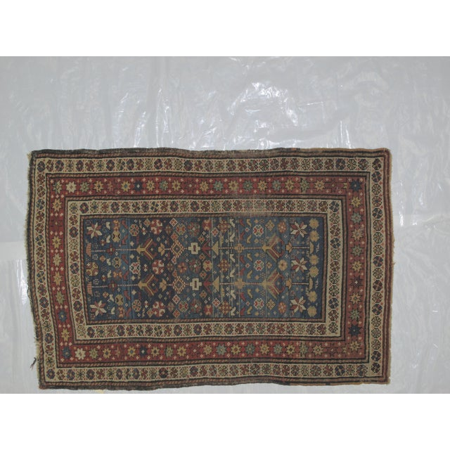 """Antique Russian Shirvan Rug - 3' X 4'6"""" - Image 3 of 6"""