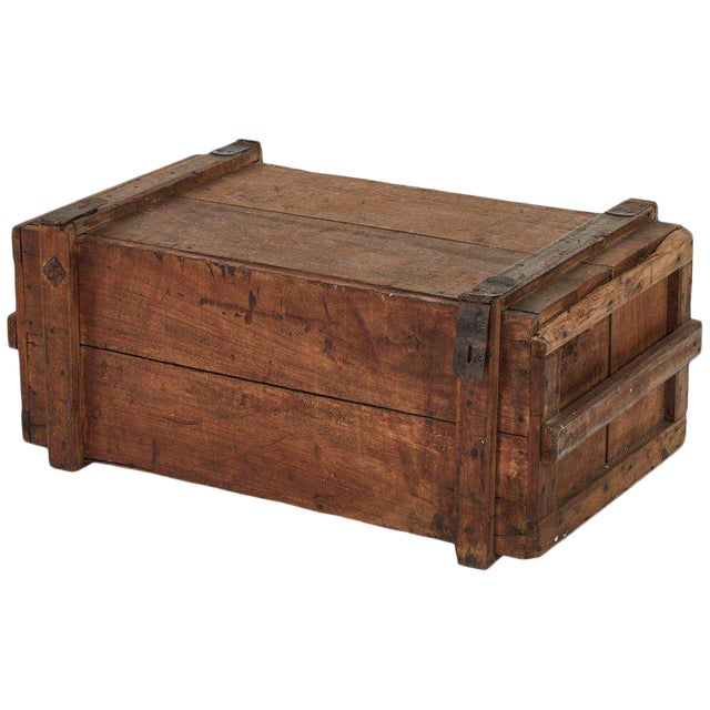 Rustic Wood Chest as Coffee Table For Sale