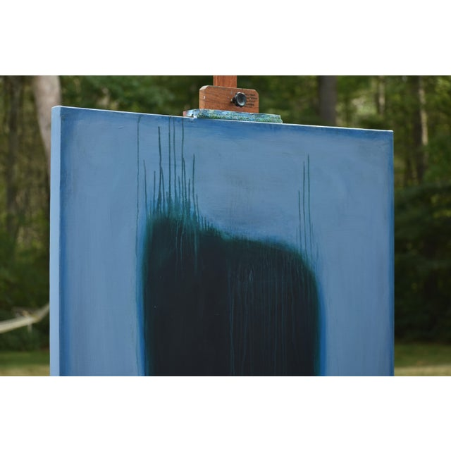 'Blue Torso' Abstract Painting - Image 4 of 11