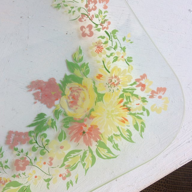 Crystal Glass Dorothy Thorpe California Wild Flower Square Serving Platter For Sale - Image 7 of 13