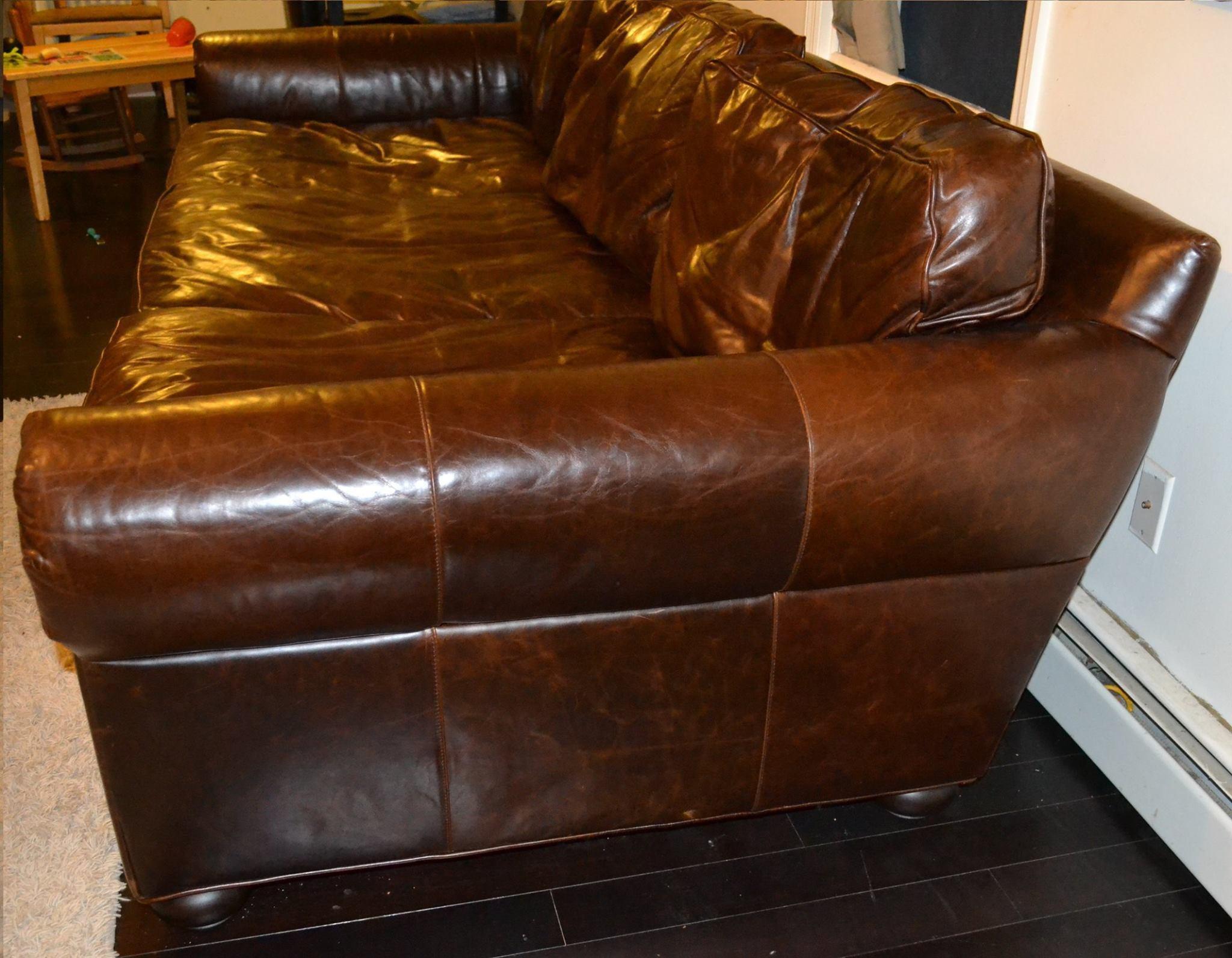 Restoration Hardware Original Lancaster Leather 112 Sofa Chairish