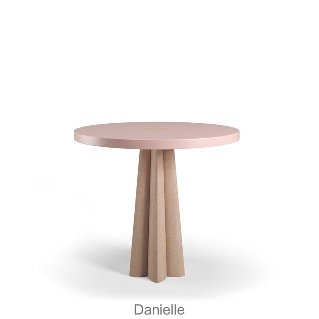 Danielle Side Table - Natural Cerused Oak - Coral Dust For Sale In Los Angeles - Image 6 of 6