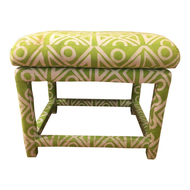 Baughman Style Mid-Century Parsons Ottoman - Image 1 of 8