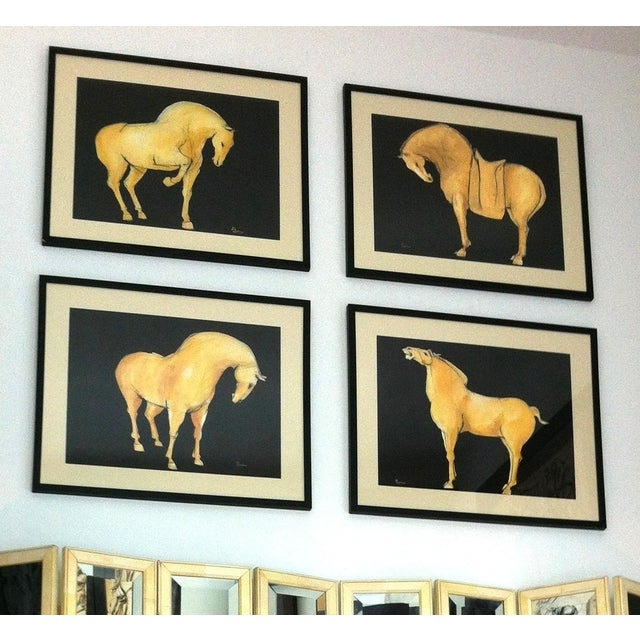 Sienna Tang Horse III Painting by Heidi Lanino For Sale - Image 4 of 4