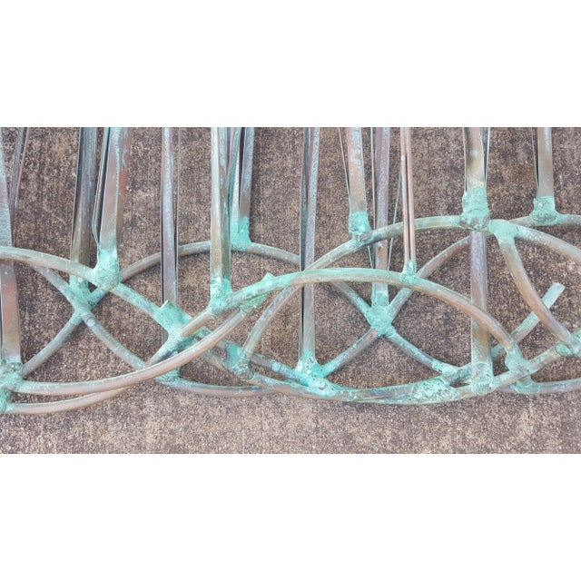 Verdigris Sea Oats Wall Art Sculpture by Max Howard For Sale - Image 8 of 9