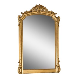 Large Antique French Gold Leaf Mirror circa 1890