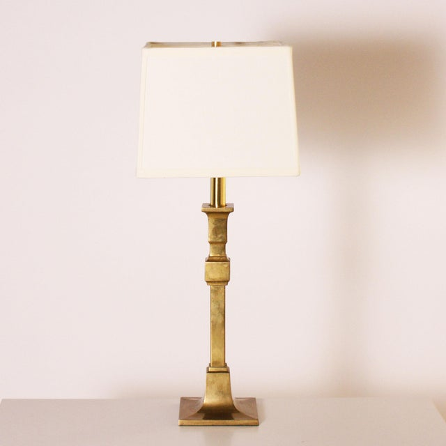 1970s Chapman Brass Table Lamps - a Pair For Sale In Dallas - Image 6 of 7