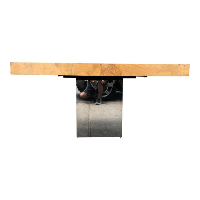 Silver 1970s Mid-Century Modern Milo Baughman for Thayer Coggin Dining Table For Sale - Image 8 of 10