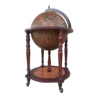 Modernist Globe Cocktail Cabinet Dry Bar Midcentury For Sale